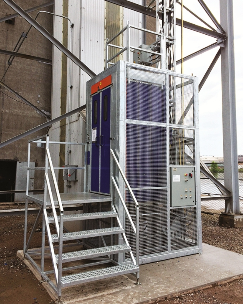 Industrial elevators and permanent hoists